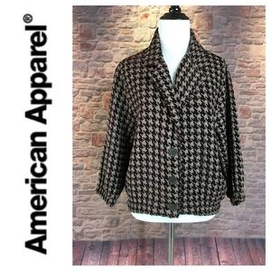 💸American Apparel Houndstooth print jacket OS